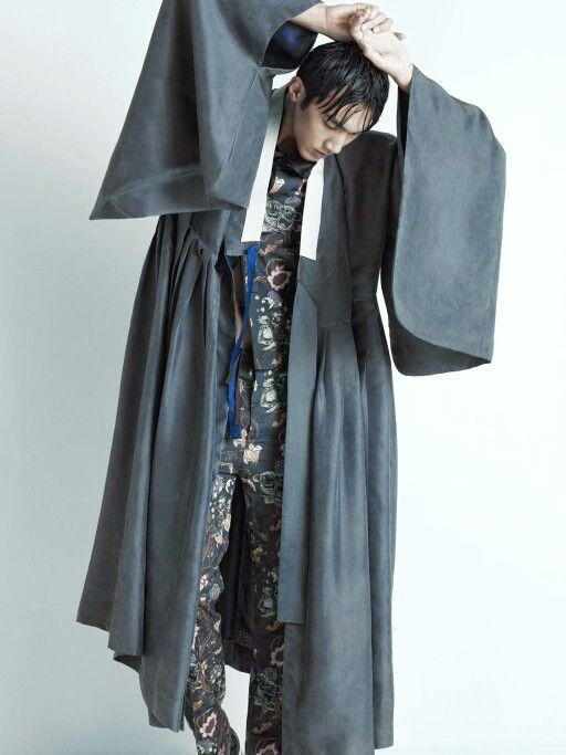 두루마기. 정장조합 modern hanbok style for men