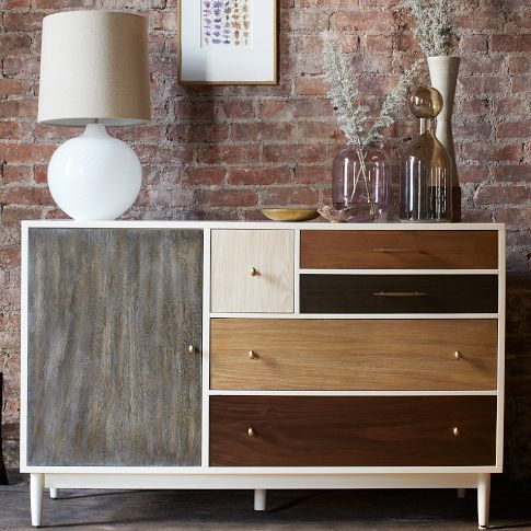 Patchwork Dresser; love this piece from West Elm... would be great for guys room