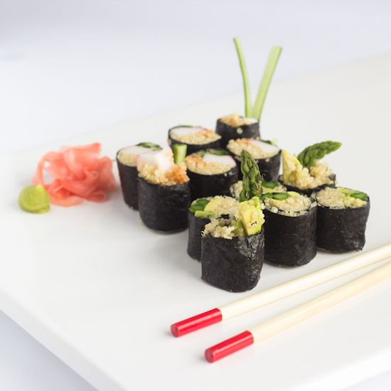 Quinoa Sushi is a healthy, high fiber and protein rich treat that is ...