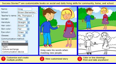 LOVE these personalized social stories by Sandbox Learning. You can purchase individual stories for your child for areas they may need help. Fortunately my son's school provides these stories & send one home each week. I keep them in a binder.
