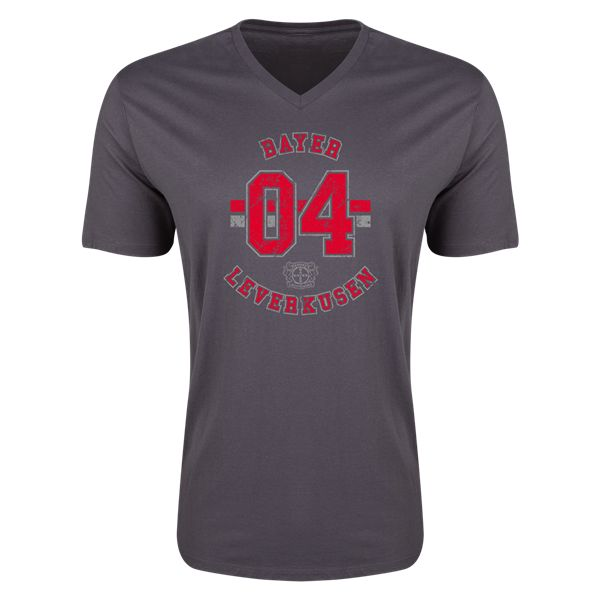 Bayer 04 Leverkusen V-Neck T-Shirt (Dark Grey)