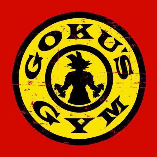 Goku's Gym Red T-Shirt $12.99 Dragon Ball tee at Pop Up Tee!