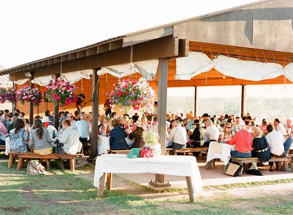 Park Pavilion wedding; I like the side drapes
