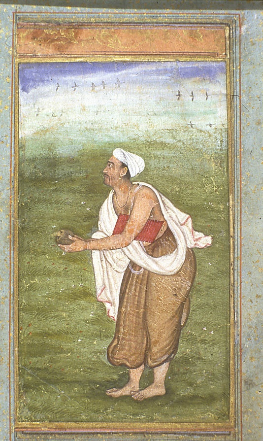 Keshavdas, Self-portrait, ca. 1570. Delhi Mughal Court painter. Keshav Das's receptivity to European art went beyond that of his contemporaries; he explored the tonal modeling of musculature in new ways and brought an innovative approach to landscape, especially the creation of middle and far distance through the subtle use of perspective and atmospheric effects.