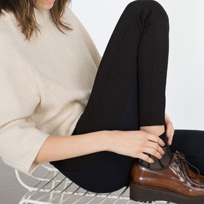 Image 2 of FLAT LEATHER PLATFORM SHOES from Zara