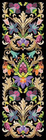 Tapiz antiguo patrón el Medici Fender taburete ornamento Bell Pull tapiz punto de cruz contado Multicolor patrón PDF