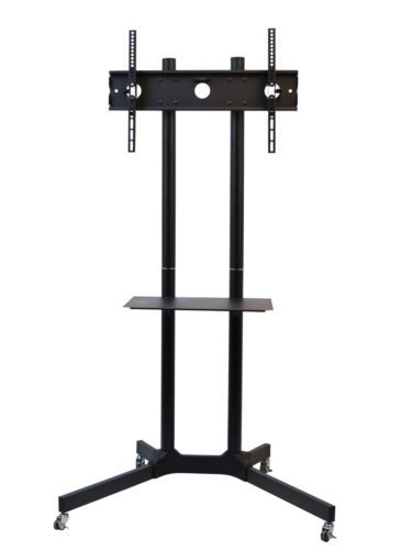 VIVO-TV-Cart-for-LCD-LED-Plasma-Flat-Panel-Stand-w-Wheels-Mobile-fits-32-to-65