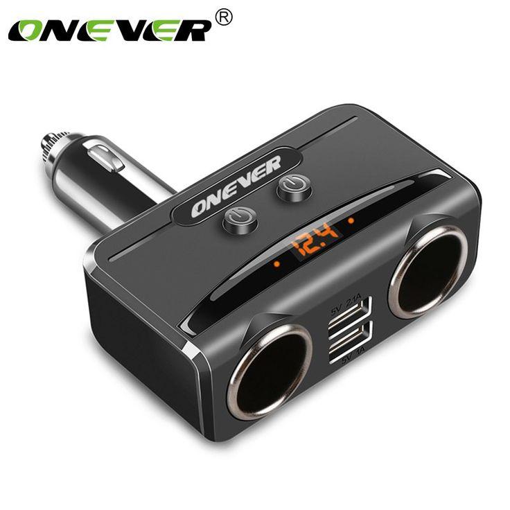 Onever Car USB Cigarette Lighter Socket Splitter Dual USB //Price: $27.44 & FREE Shipping //     #navigation