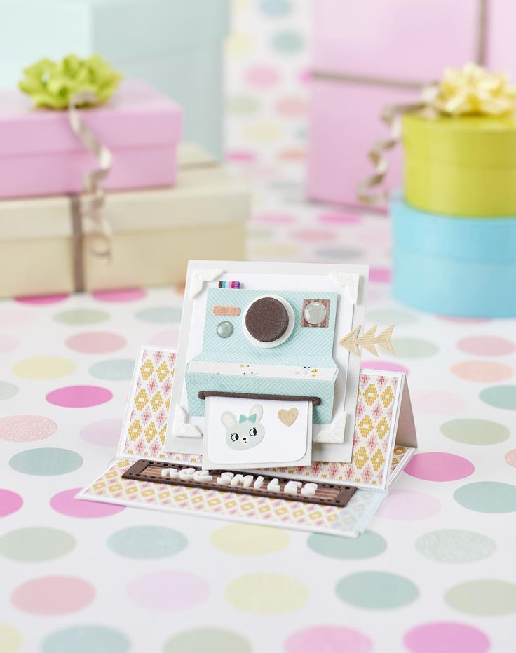 This camera card is just the cutest – find more cute designs in Papercraft Inspirations issue 148!