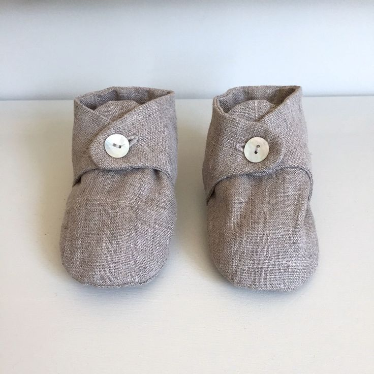 Linen Baby Shoes: Natural