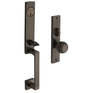 Buy The Baldwin Antique Nickel Direct. Shop For The Baldwin Antique Nickel  New York Single Cylinder Mortise Handleset Trim Set And Save.