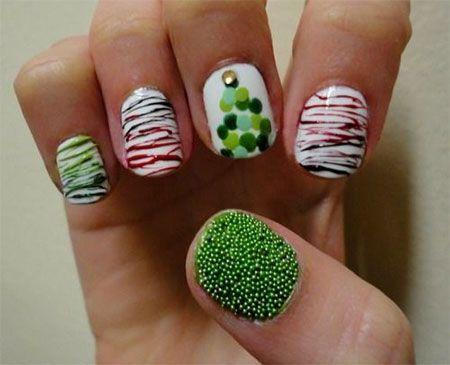 20-Easy-Simple-Christmas-Nail-Art-Designs-Ideas-Stickers-2014-Xmas-Nails-9.jpg (450×365)