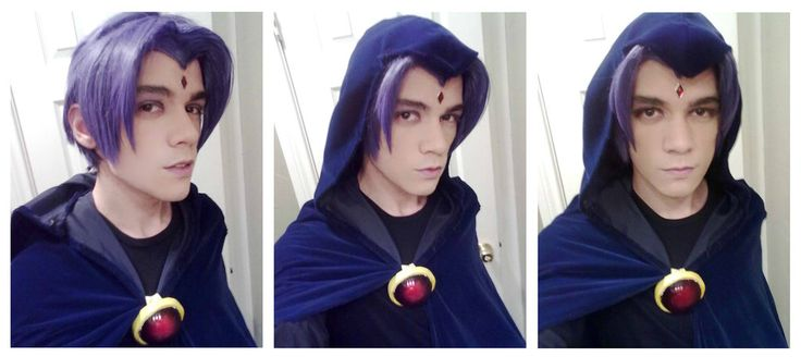 Male Raven - Teen Titans cosplay by NipahCos.  -really well done, and he's just as pretty as female Raven is!! ^-^