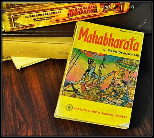 Mahabharata by C. Rajagopalachari. Paperback: 331 pages. Publisher: Bharatiya Vidya Bhavan/Mumbai/India; 27th edition (1986).
