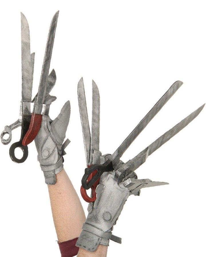 Edward Scissorhands Deluxe Gloves.  Gotta have at a Halloween with Tim Burton Party.
