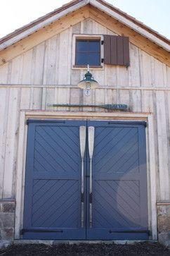 Oar door handles for a boat house. #oars More decor ideas with oars on Completely Coastal: http://www.completely-coastal.com/2009/02/decorating-nautical-with-wooden-oars.html