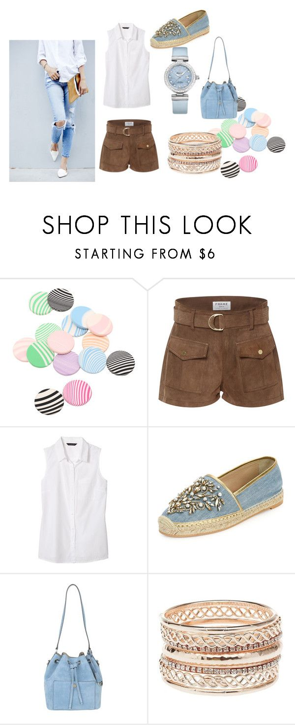 """""""Untitled #204"""" by frupapp on Polyvore featuring Frame Denim, Banana Republic, René Caovilla, Michael Kors, Charlotte Russe and OMEGA"""