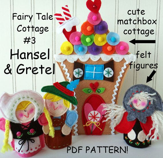 FAIRY TALE MATCHBOX Cottage 3 Hansel and Gretel by LindyJDesign