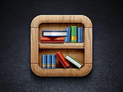 Bookshelf Ios Icon By James Cipriano