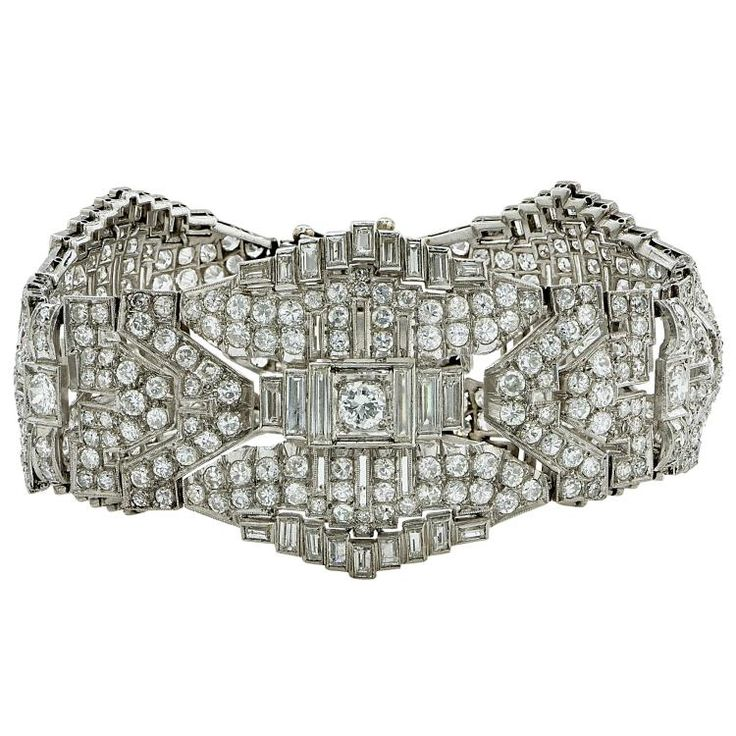 Buy online, view images and see past prices for Breathtaking Art Deco Platinum 23ct Diamond Bracelet. Invaluable is the world's largest marketplace for art, antiques, and collectibles.