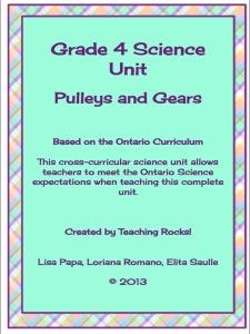 Gr 4 Science Unit on Pulleys and Gears (Ontario Curriculum) - Teaching Rocks!