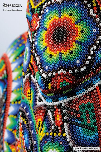 The Huichol Art with PRECIOSA seed beads (Seed Beads Rooster) | Flickr - Photo Sharing!