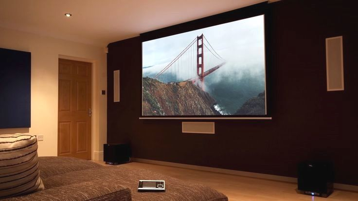 Tv And Projector On The Same Wall Finite Solutions Projector Screen Diy Buy Projector Projector
