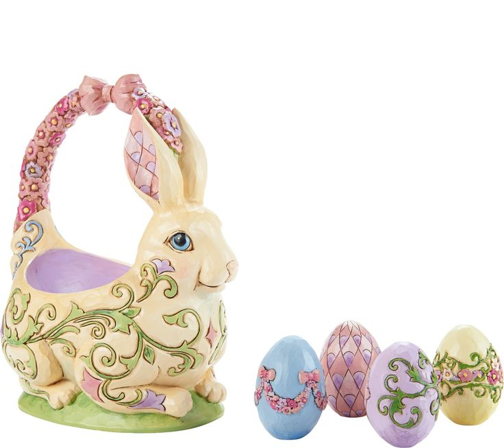 32 best jim shore easter images on pinterest easter eggs egg and eggs 2016 honey of a bunny 13th annual easter basket 4058987 bunny with 4 easter basketscollectible figurinesqvcjim negle Image collections