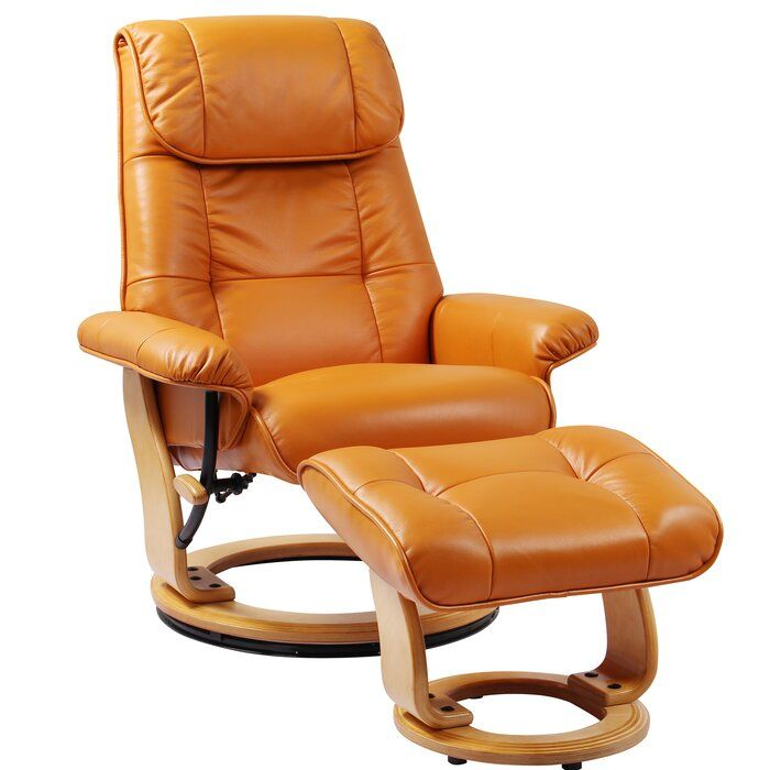 Beaucet Manual Swivel Recliner With Ottoman Recliner With