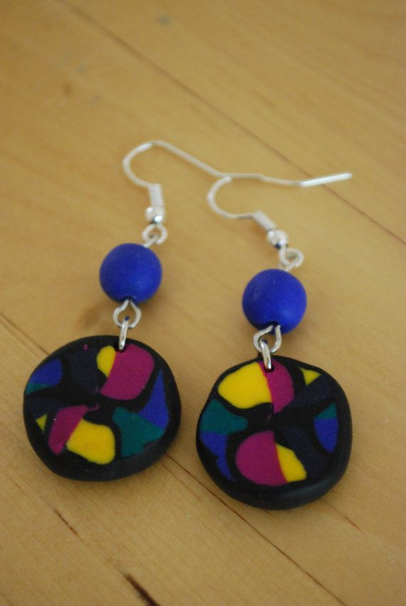 Multicolored Circles by CoolMooseJewelry on Etsy