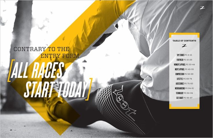 photography and catalogue design for triathlon gear by Zoot