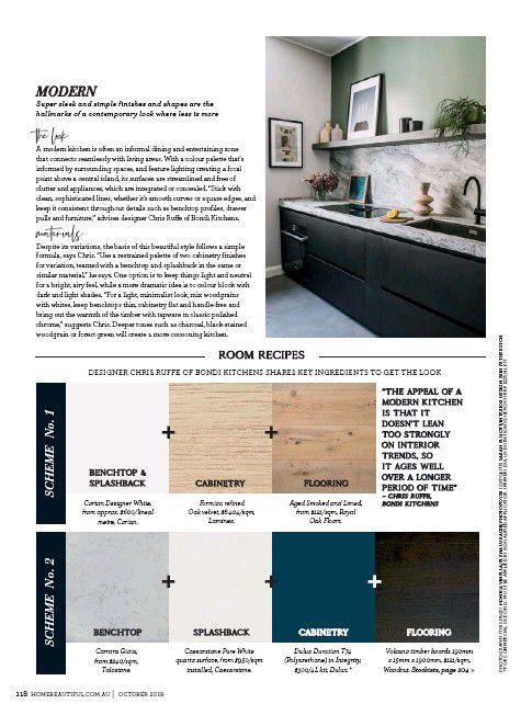 Home Beautiful 01 Oct 2019 Page 118 Modern Kitchen