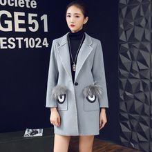 Áo khoác dạ nữ thời trang, phong cách châu Âu, kiểu dáng cá tính
