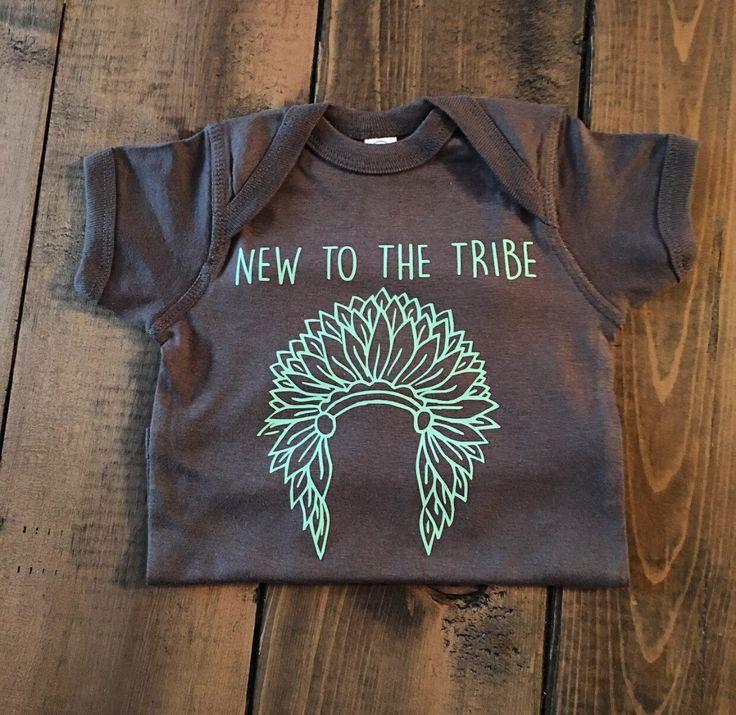 New To The Tribe Onesie - Tribal Onesie - Tribal Baby Shower Gift - Unisex…