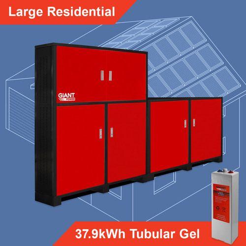 Off Grid System - Large Residential 37.9kWh Tubular Gel