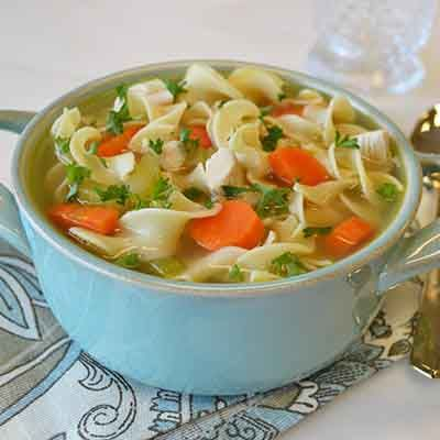 A chicken soup with flavor just like mom's and ready in minutes.