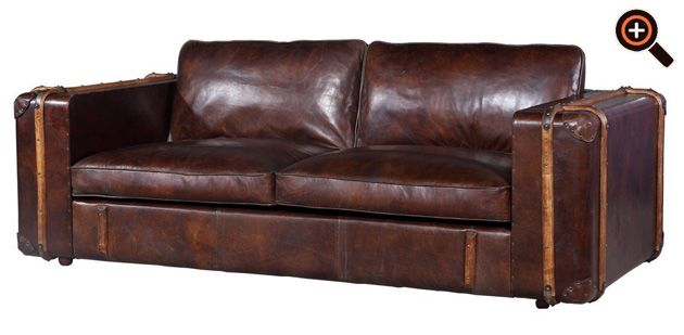Designer couch leder braun  Chesterfield Sofa aus Leder - Couch, Ecksofa & Sessel als Design ...