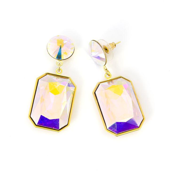 Shine Earrings - Rectangle Shape