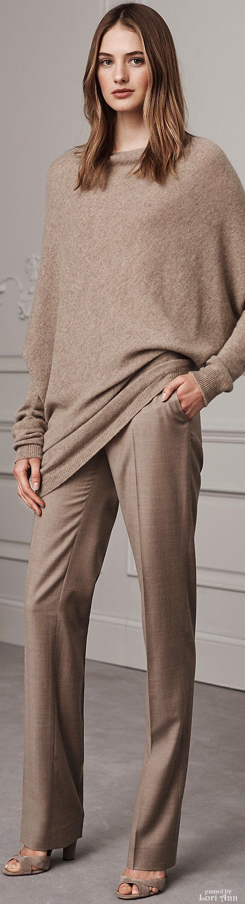 Love the pants in this, the sweater is nice but a little too slouchy for my work style. I may wear it with a jean on the weekend and a scarf for a good winter outfit.