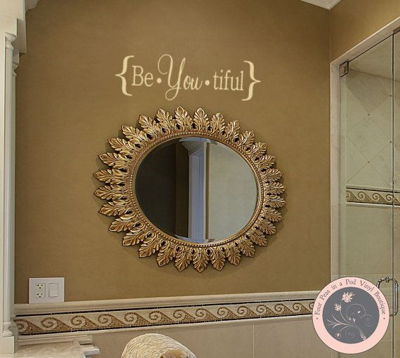Wall Decals  Beautiful BeYouTiful by FourPeasinaPodVinyl on Etsy, $10.00