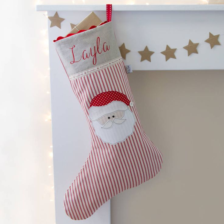 Are you interested in our personalised christmas stocking? With our Father christmas personalised stocking you need look no further.