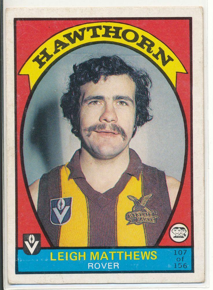SCANLENS VFL AFL 1978 FOOTBALL FOOTY CARD LEIGH MATTHEWS HAWTHORN HAWKS 107 au.picclick.com