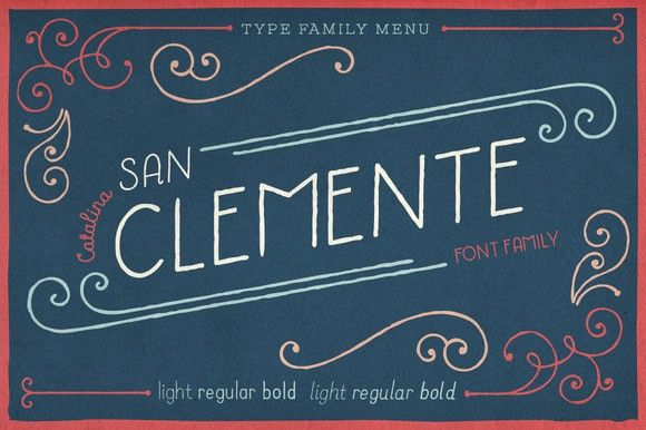 Catalina Clemente. Display Fonts. $45.00