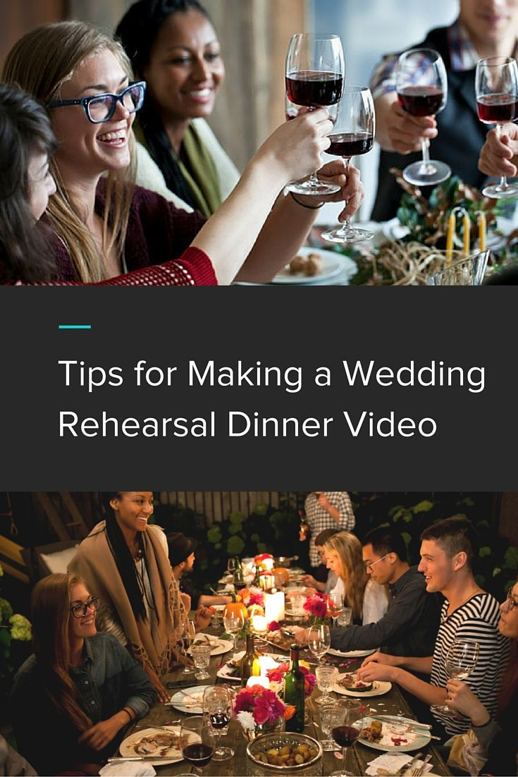 We've all seen a wedding slideshow, but a rehearsal dinner video can be just as meaningful and fun. We put together three main tips for making a rehearsal dinner video that'll bring your guests to tears.