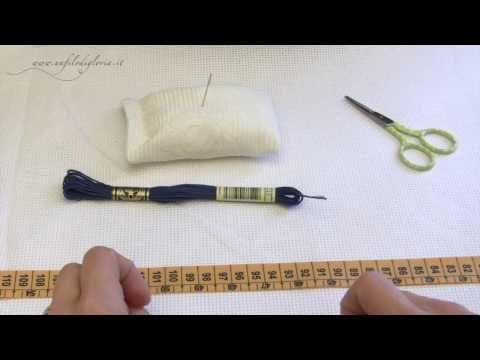 Metodi per iniziare il ricamo (prima parte) - YouTube