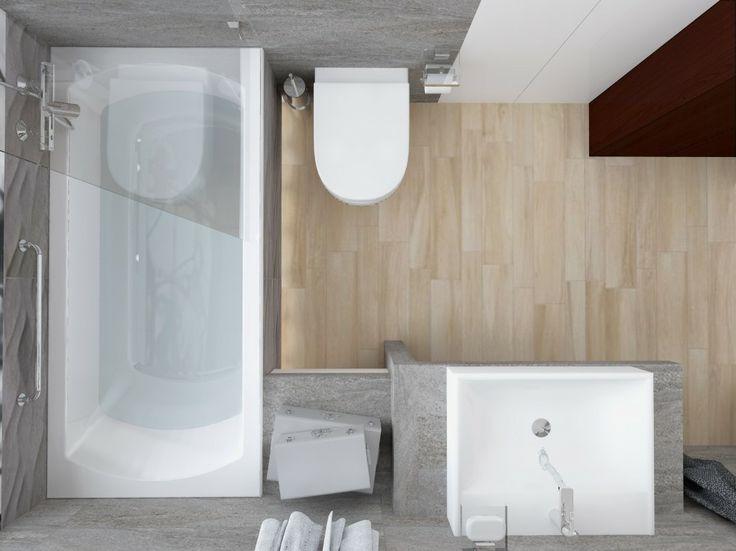Małą łazienka w szarości.