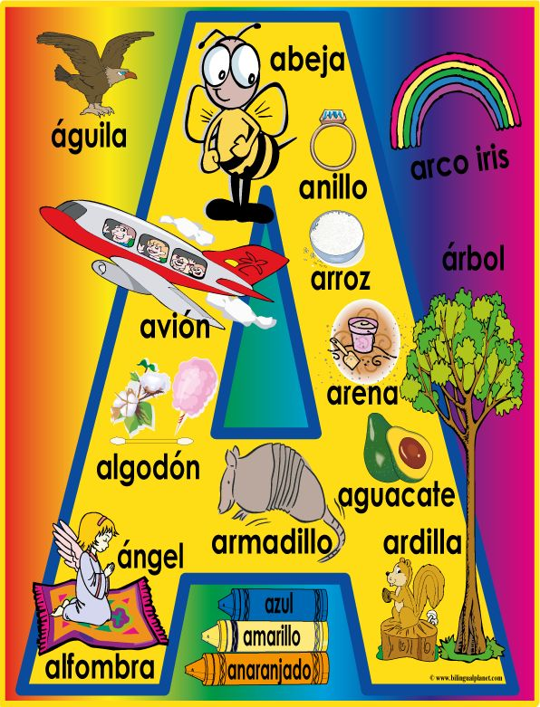 Large Spanish Alpha-Poster - Bilingual Planet