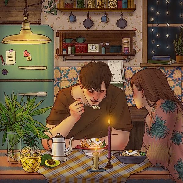 Korean Illustrator Perfectly Captures the Small Romantic Moments of Falling in Love