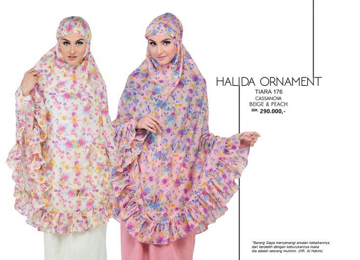 Halida Ornament - Tiara 176 Cassanova  Beige & Peach AVAILABLE only IDR 290.000,-
