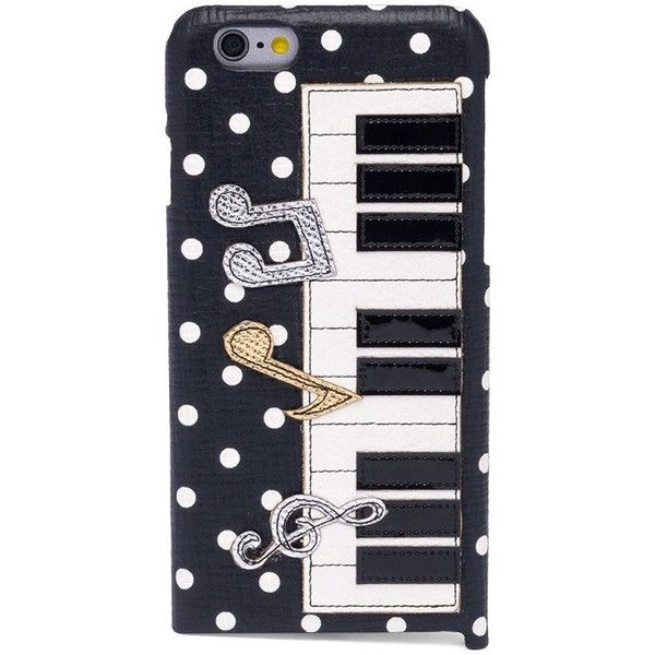 Dolce & Gabbana Polka Dot Piano Leather Phone Case ($475) ❤ liked on Polyvore featuring men's fashion, men's accessories, men's tech accessories and mens leather accessories